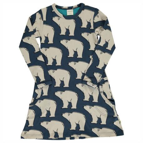 Maxomorra Dress Polar Bear