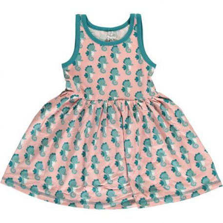 Maxomorra Dress Spin Seahorse