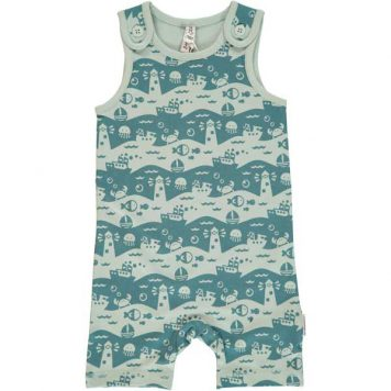 Maxomorra Playsuit Short Ocean Landscape