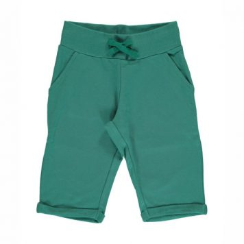 Maxomorra Sweatshort Knee Green Petrol