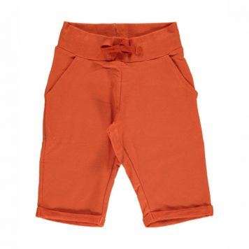 Maxomorra Sweatshort Knee Rusty Red