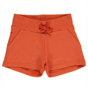 Maxomorra Sweatshort Rusty Red