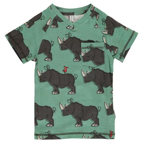 Maxomorra T-Shirt V-Neck Rhino