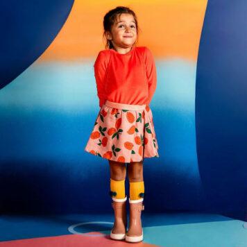 Mini Rebels Roxy Longsleeve Velours Burnt Orange