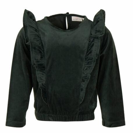 Mini Rebels Sweater Nuna Velours Dark Green