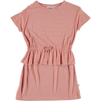 Molo Dress Camma Hot Coral Stripe