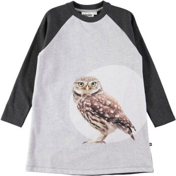 Molo Dress Chanda Owl Dot
