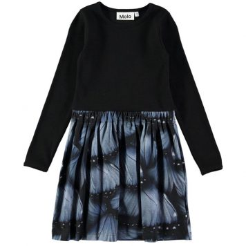 Molo Dress Credence Velvet Wings
