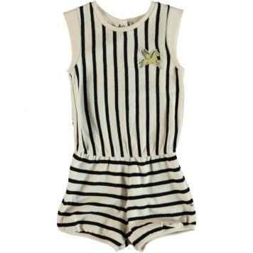Molo Jumpsuit Abigail Black-Cream Stripe