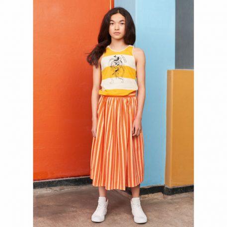 Molo Skirt Brittany Coral Sunrise Stripe