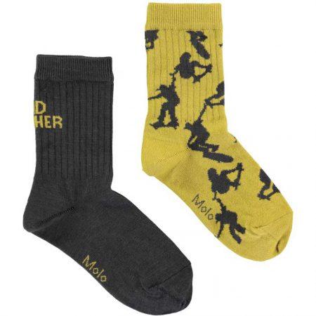 Molo Socks 2-pack Pirate Black