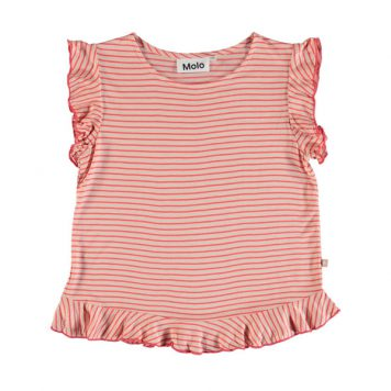 Molo T-shirt Rabia Hot Coral Stripe
