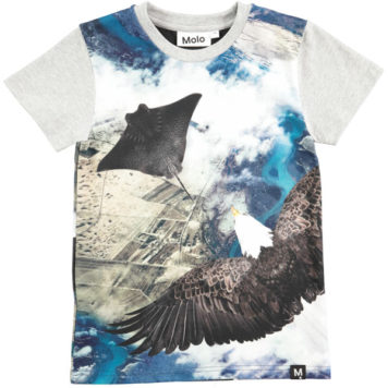 Molo T-shirt Raven Flying