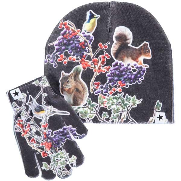 Molo set muts en handschoenen Kaya Autumn Creatures