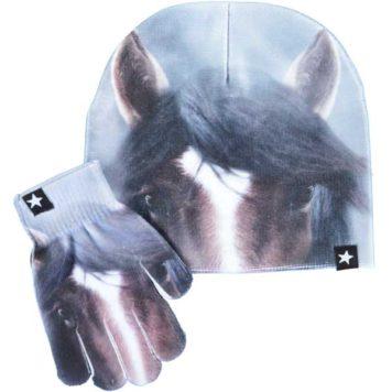 Molo set muts en handschoenen Kaya Misty Pony