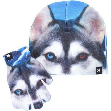 Molo set muts en handschoenen Kaya Soft Husky