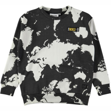 Molo sweater Madsim World Map Dark
