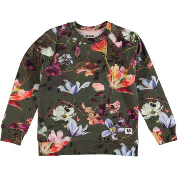 Molo sweater Marina Evergreen Flowers