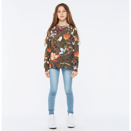 Molo sweater Marina Evergreen Flowers
