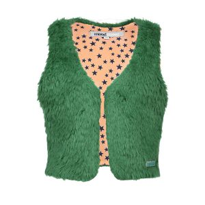Moodstreet vest Fur Bottle Green