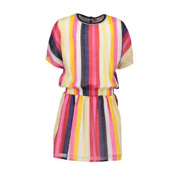 Nono Dress Maroon Stripe