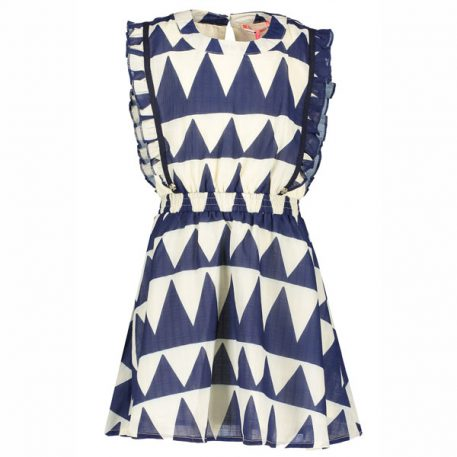 Nono Kleedje Minnie Dress African Print Navy Blazer