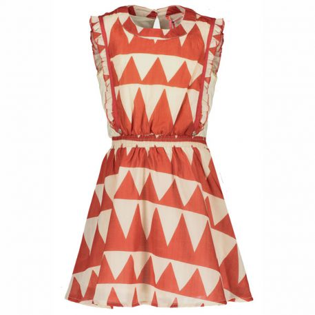 Nono Kleedje Minnie Dress African Print Poppy Red