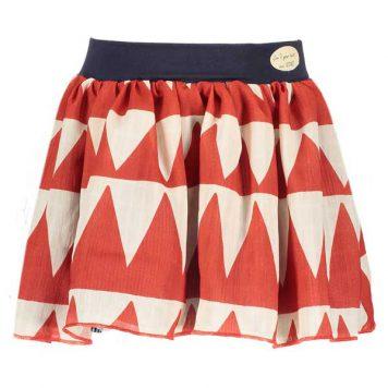 Nono Omkeerbare rok Numo African Triangle Poppy Red