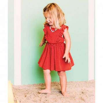 Petit Louie Adele Dress Mini-Me Clay Red