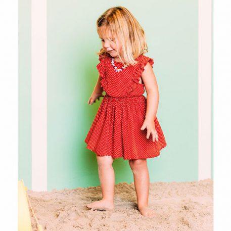 Petit Louie Adele Dress Mini-Me Clay Red