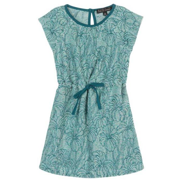 Petit Louie Raglan Dress Parlor Palm