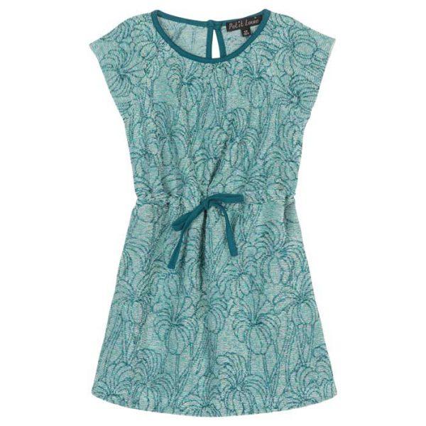 Petit Louie Raglan Dress Parlor Palm