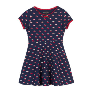 Petit Louie Skater Dress Offshore Blue