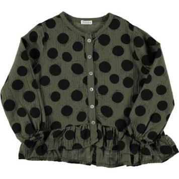 Picnik Blouse Ruffles Dots