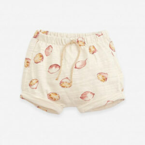 Play Up Printed Flamé Jersey Shorts Lemon