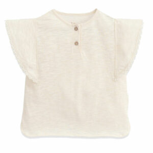 Play Up T-shirt Lace Detail Dandelion