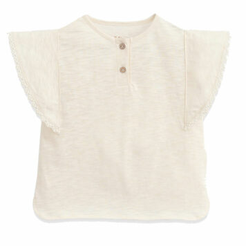 Play Up T-shirt Lace Detail Dandelion