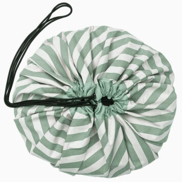 Play&Go speeltapijt-opbergzak Stripes Green