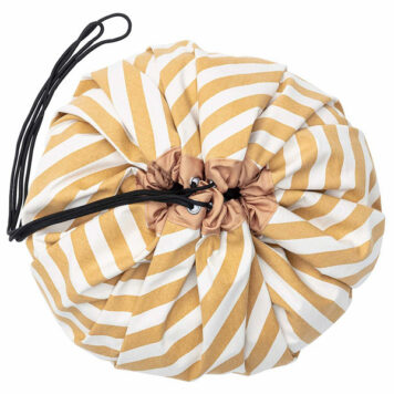 Play&Go speeltapijt-opbergzak Stripes Mustard