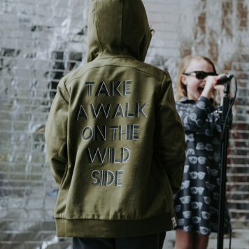 Six Hugs & Rock 'n Roll Hoodie Take a Walk on the Wild Side