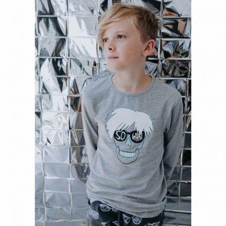 Six Hugs & Rock 'n Roll Longsleeve So What Grey