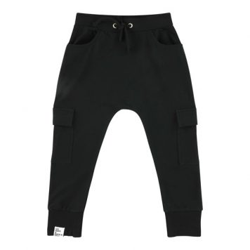 Six Hugs & Rock 'n Roll Sweatpants Black Pockets