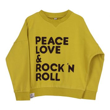 Six Hugs & Rock 'n Roll Wide Sweater Peace, Love & Rock 'n Roll