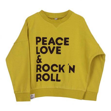 Six Hugs & Rock 'n Roll Wide Sweater Peace, Love & Rock 'n Roll