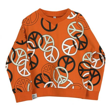 Six Hugs & Rock 'n Roll Wide Sweater Peacesigns