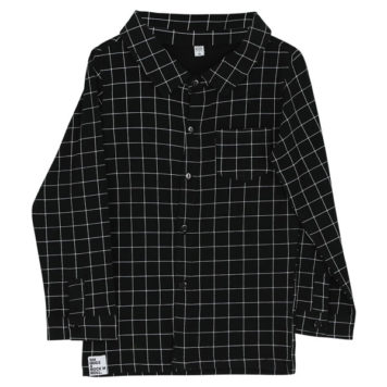 Six Hugs & Rock'n Roll Button Shirt Black Lines