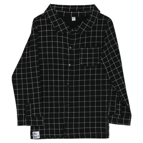 Six Hugs & Rock'n Roll Button Shirt Black Lines