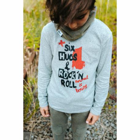 Six Hugs & Rock'n Roll Longsleeve Normal is Boring