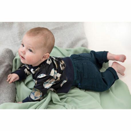 Someone Baby Sweater Hazard Navy