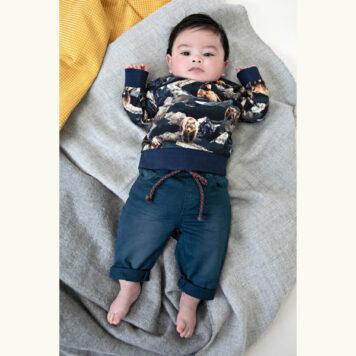 Someone Baby Sweater Hike Navy